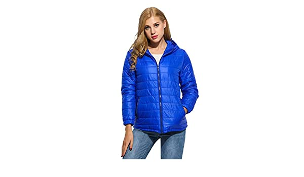 eshion Womens Hooded Packable Ultra Light Weight Short Down Jacket