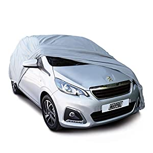 Maypole 9851 Breathable Full Car Cover, Grey, Small