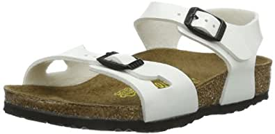 Birkenstock Rio, Girls' Sandals, White Lack, 7 UK Child (24 EU)