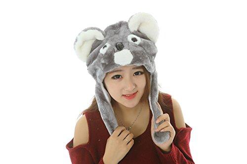 2 Stück-42 Arten Tiere Unisex Plüsch Tier Hats Kostüm Abzugshaube Spielzeug Leistungsstützen