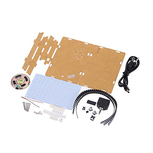 Preisvergleich Produktbild KKmoon Hochwertige Musikspektrum elektronischen Bausatz Groß Starterkit 12 * 11FFT