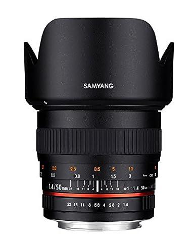 Samyang 50mm F1.4 Objektiv für Anschluss Canon EOS