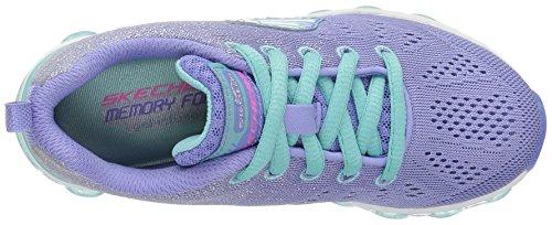 Skechers Air Ultra Glitterbeam, Sneakers Basses Fille Violet (Peri)