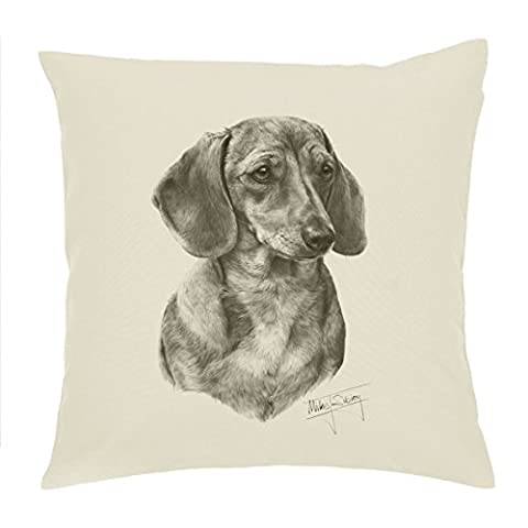 Smooth coat Dachshund doxie Cushion Cover / pillow 18'' Mike