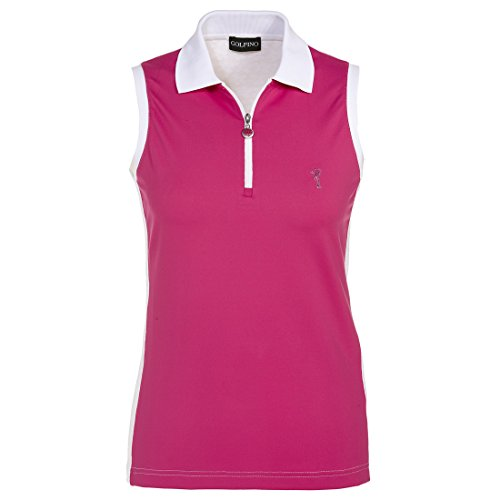 golfino-ladies-round-neck-functional-golf-polo-shirt-with-zip-pink-xxs