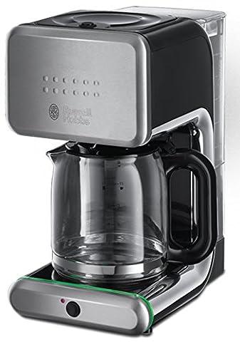 Russell Hobbs Illumina 20180-56 Glas-Kaffeemaschine mit Brausekopf-Technologie und Schnellheizsystem silber