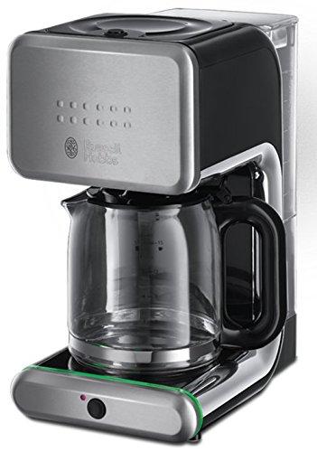 Russell Hobbs Illumina - Cafetera de filtro, jarra de cristal, capacidad de 1,25 l, sistema rociador de agua avanzado
