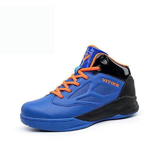 ASHION Bambini scarpe da basket delle ragazze dei ragazzi antiurto di sport che funziona a piedi scarpe blu