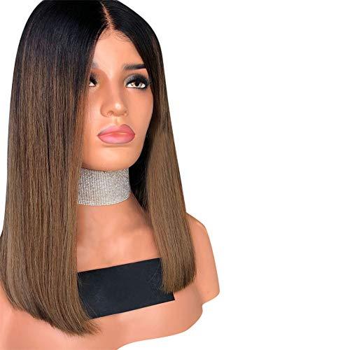 Parrucca corta e sintetica bobo marrone parrucca delle donne naturali.
