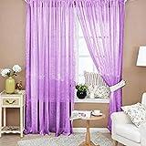 Best Home Fashion Valances - Light Purple Demiawaking 100X200Cm Fashion Valances Colors Floral Review