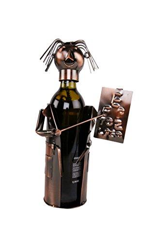 Augenarzt Flaschenhalter Metall Weinflaschenhalter Sekthalter Figur Deko Arzt