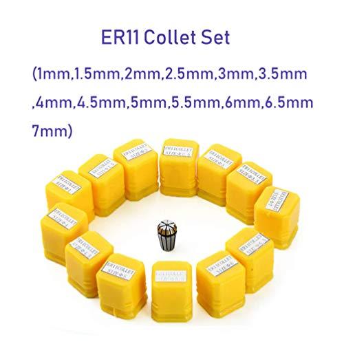 ER11 Spannzangen-Set, 13-teilig, ER11 Spannzange, CNC-Spindel, ER-11 Spannzange, Drehzange, Werkzeughalter von 7 mm für CNC-Fräsen