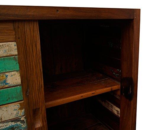 Vintage Teak gebogene Kommode, Kabinett, Sideboard, Schrank, Shabby, Antik Retro, Chic - 6