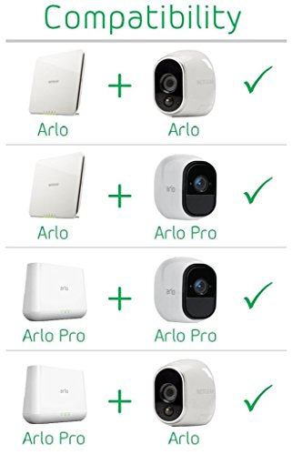 Arlo Pro Security System with Siren 1 Rechargeable Wire-Free HD Camera with Audio, Indoor/Outdoor, Night Vision (VMS4130) by NETGEAR