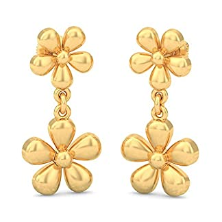 BlueStone 22k (916) Yellow Gold Floralia Drop Earrings
