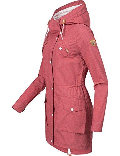 Ragwear Damen Mantel Übergangsmantel YM-Clancy Chili Red Gr. M - 3
