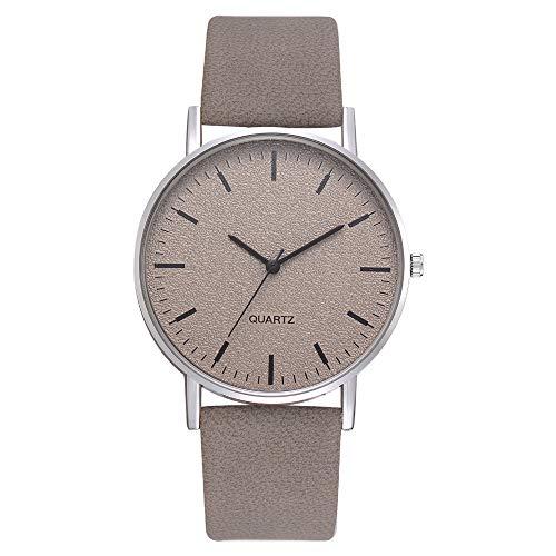Damen Uhr, Mode Einfach Uhren Silikon Armband Analog Quarz Armbanduhr(Grey) (Watch Halloween 2 Online)
