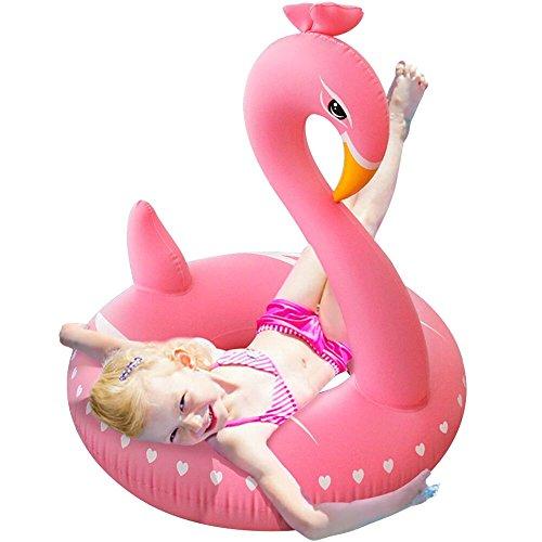 Leeron Gonflable Cygne Piscine Flotteur Partie Tube Piscine Raft Été Piscine Extérieure Jouet Pour Bébé enfants et adultes(Rose)