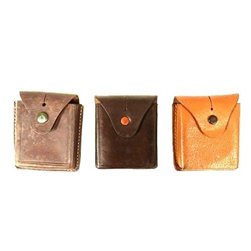 alte Ledertasche Täschchen für Taschenuhr Kompass Tasche Uhrentasche Leder Etui