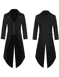 Homme Manteau Veste Queue-de-pie Steampunk Gothique Blouson Fashion  Aristocrate Déguisement Costume Cosplay c9c5847eae8