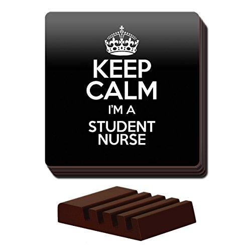 Duke Gifts Schwarz Set von 4Keep Calm I 'm a Student Nurse Untersetzer Farbe 3521