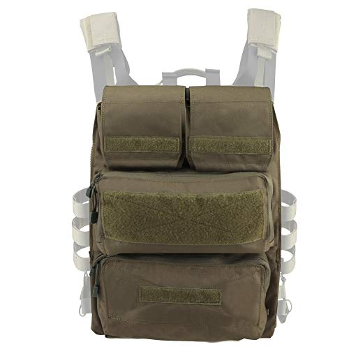LRKZ Tactical JPC Vest Accessory Bags, Paquete de Hidratación Molle para Airsoft Paintball Combat Pouch Magazine Bag Shooting Army Pouch Bag,Verde
