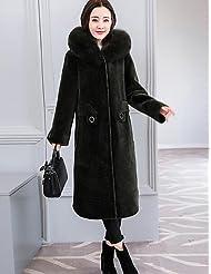 PU&PU Manteau Femme,Couleur Pleine Décontracté / Quotidien simple Automne Hiver Manches longues Capuche Longue Polyester