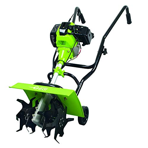 Garden Gear Rotavator Wheeled Tiller 2 Stroke Petrol 42.7cc Air Cooled Cylinder Engine with Safety Switch & Blade Guard by Garden Gear