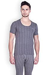 Lux Inferno Mens Cotton Thermal Top (INFERNO_CH_HS_RN_80_Charcoal Melange_Small)