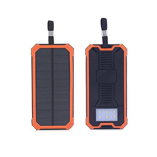 leshp 50000mAh Cargador Solar Power Banco 2USB Batería externa SOS linterna LED