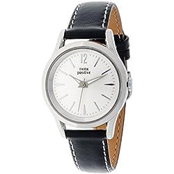 THINKPOSITIVE, Mens watch, Model SE W 130 A Big Milano,Imitation leather strap, Unisex, Color black