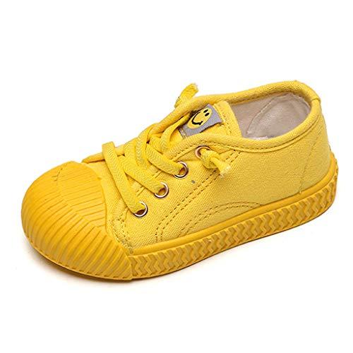 Alwayswin Freizeitschuhe für Kleinkinder Mädchen Jungen Canvas Sneaker Kinder Atmungsaktive Segeltuchschuhe Mode Einzelne Schuhe Bequem Outdoor-Sportschuhe rutschfest Laufschuhe