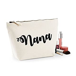 Nana Personalised Name Cotton Canvas Make Up Accessory Bag Wash Bag Size 14x20cm. The perfect personalised Gift for All occasion, Christmas, Birthdays,