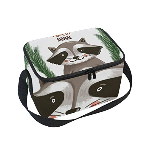 SKYDA Lunchpaket Box Insulated Lunchpaket Bag Large Cooler Forest Fox Tote Bag for Men, Women, Girls, Boys