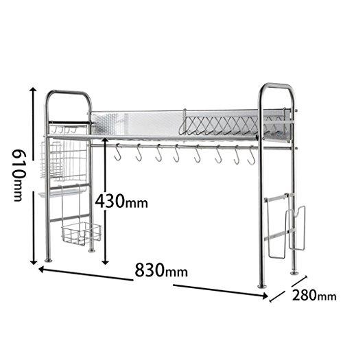 Porte-vaisselle en acier inoxydable (edition : B, taille : 83 * 28 * 61CM)