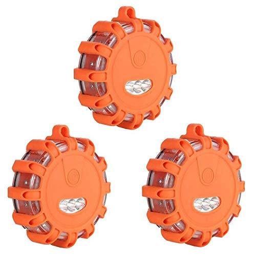 upstartech Warnblinkleuchte LED Warnleuchte Flash Warnleuchte mit Magnet Haken 9 Leuchtmodi Notfall Pannenhilfe Warnsignal Blinklicht Wasserdicht Blinkend Warnlicht für Auto und Fahrrad (3er-Set) by