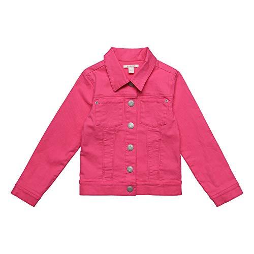 ESPRIT KIDS Mädchen Denim Jacket Jacke, Rosa (Dark Pink 326), (Herstellergröße: 116+)