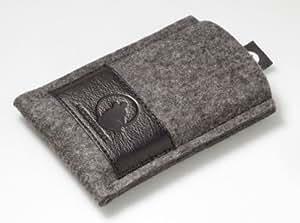 Wolfsrudel Samsung Galaxy S2 Tasche / Case / Hülle / Etui - Grau-Meliert