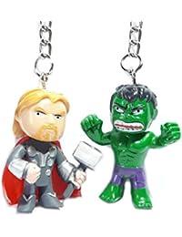 Blue Aura Combo Of 2 Superhero Inspired Thor & Hulk Mini Keychain HEIGHT - 4CM Keychain Collectible Gifting