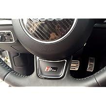 Audi S Line Sline S-Line Pegatina de logotipo para Volante, Negro