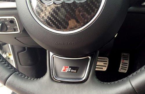 Audi S Line Sline S-Line Negro Volante Emblema–Pegatina de logotipo (