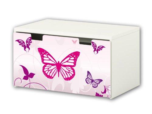 Pink World Aufkleber / Möbelsticker - BT16 - passend für die Kinderzimmer Banktruhe STUVA von IKEA (90 x 50 cm) - Optimal als...
