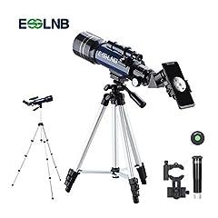 Idea Regalo - ESSLNB Telescopio Astronomico Professionale con Treppiede Regolabile e Adattatore Telefonico 70mm Completamente Rivestito Lente Barlow Lente
