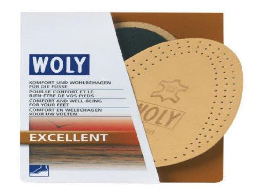 Hervorragende komfortable Woly-Innensohle mit Sohlen-Hälfte aus Leder (Unisex - für Erwachsene), braun - Braun - Größe: 36 2/3 EU (Wildleder Keil Leder Hoher)
