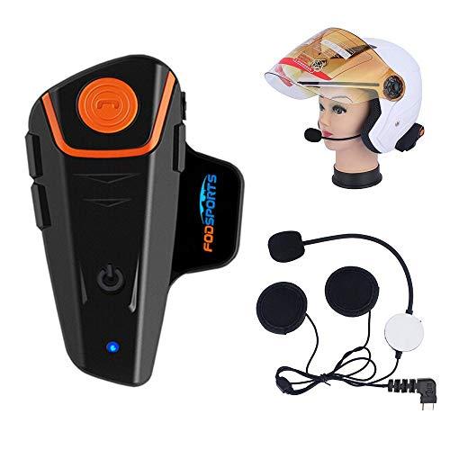 Fodsports BT-S2 Moto Intercom Bluetooth Headsets Impermeable Auriculares Intercomunicador de Casco de...
