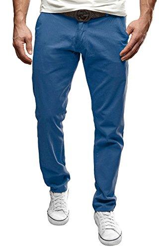 MERISH Pantalone Chino Slim Fit Pantalon Chino En Coton Droit Business Casual moderne et adapté pour toutes les occasions Modell J49 Bleu
