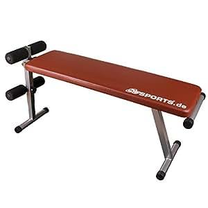 ScSports Hantelbank, Bauchtrainer klappbar, verstellbare Trainingsbank, Sit-Up Bank mit Beinfixierung, rot