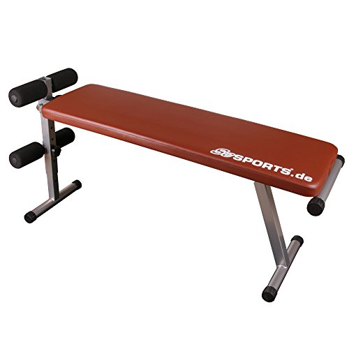 ScSPORTS Hantelbank klappbar, Trainingsbank verstellbar, Sit-Up Bank mit Beinfixierung,...
