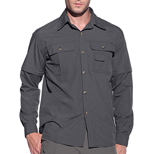 41roYZzqDfL. SS500  - MAGCOMSEN Quick Dry Breathable Convertible Men's Long Sleeve Shirt for Hiking Work Military