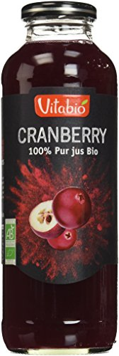 Vitabio Pur Jus de Cranberry Bio 50 cl - Lot de 6